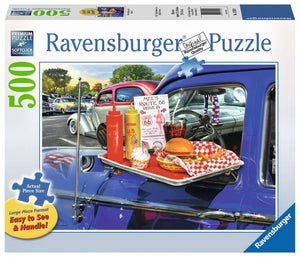Drive Thru Route 66 Large Format 500pc  Puzzle