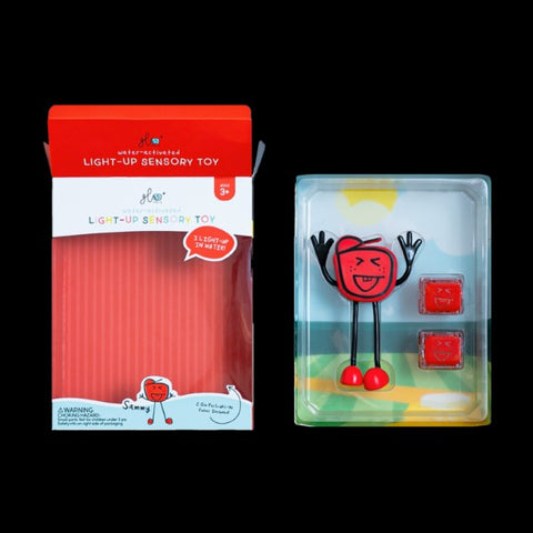 Glo Pals SAMMY Red with 2 light up bath cubes