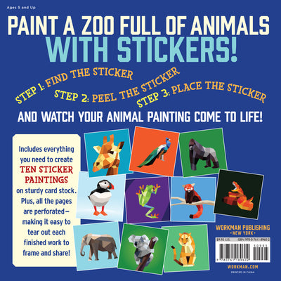 Paint by Sticker Kids Book : Zoo Animals