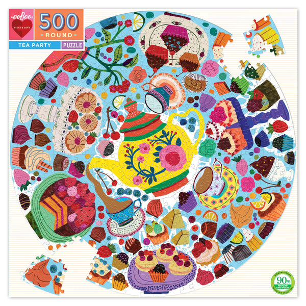 Tea Party 500pc Round Jigsaw Puzzle