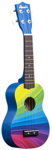 Amahi Ukulele Rainbow Wave Design