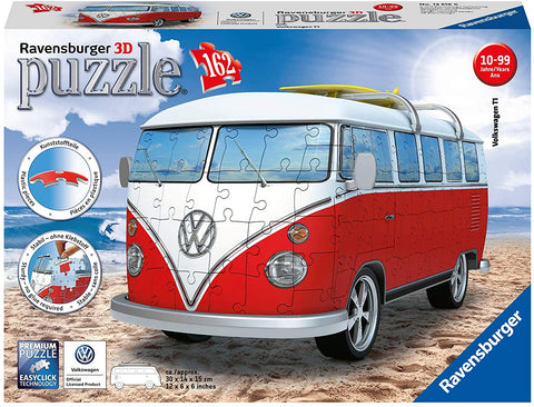 Volkswagen T1 Campervan 162 Piece 3D Jigsaw Puzzle for Kids and Adults