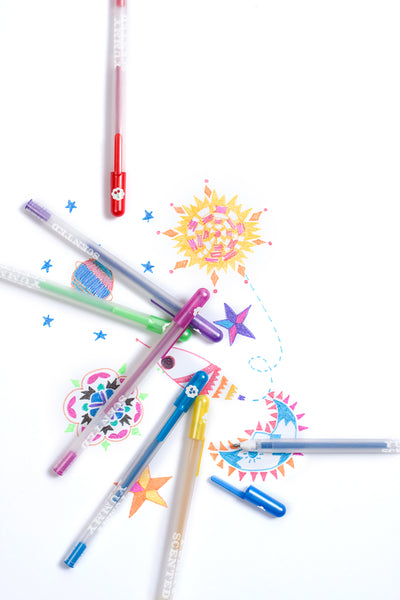 Yummy Yummy Scented Glitter Gel Pens 12pc