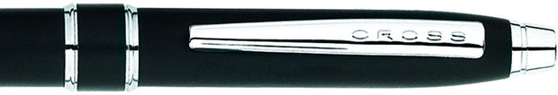 CROSS STRATFORD SATIN BLACK BALLPOINT PEN - AT0172-3