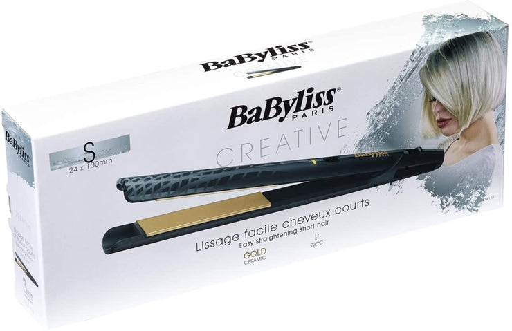 BaByliss Ceramic Hair Straightener, 24mm - Gold BABST410SDE