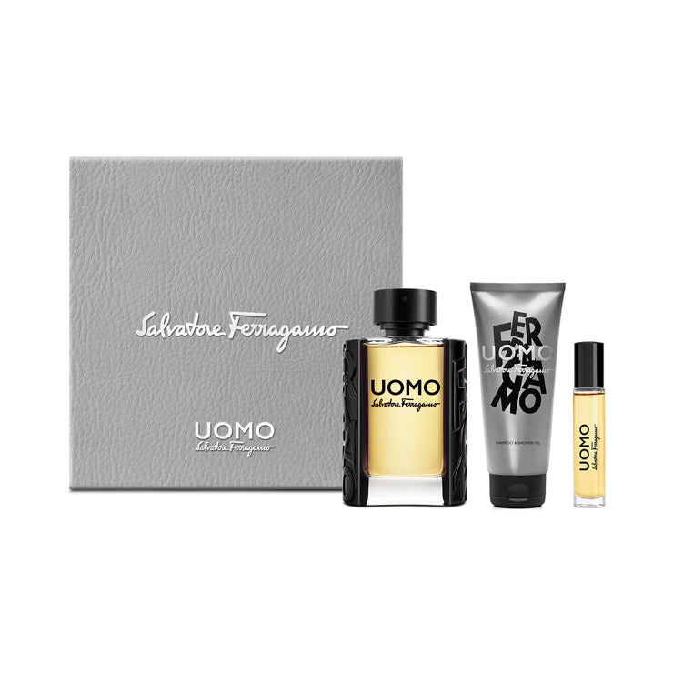 UOMO SET ( EDT 100ML+SHAMPOO & SHOWER GEL 100ML + EDT 10 ML)