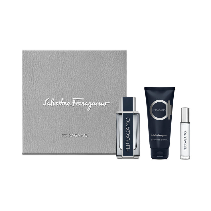 FERRAGAMO 100ML EDT+100ML SSG+10ML PURSE