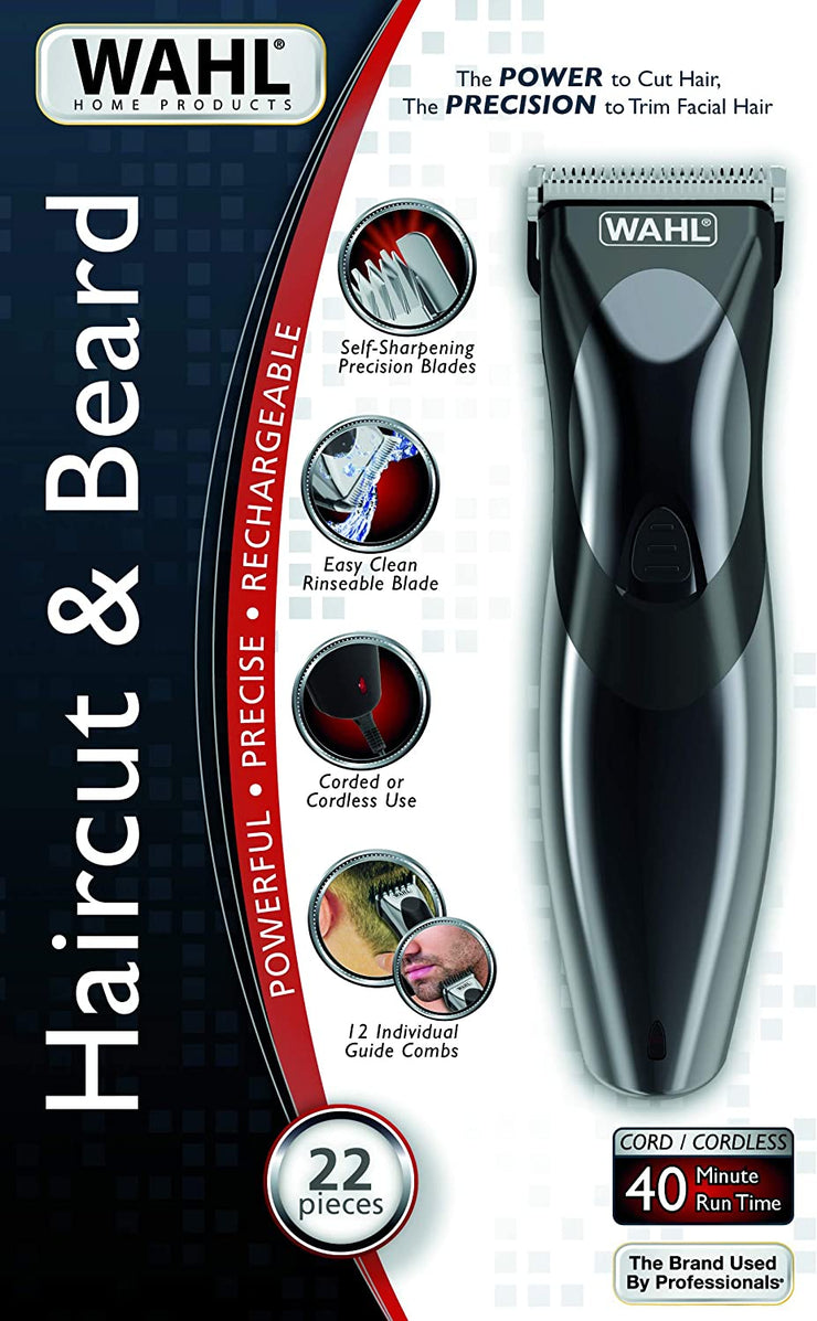 WAHL STYLE PRO HAIR CUT & BEARD (RECHARGEABLE) NEW9639-827