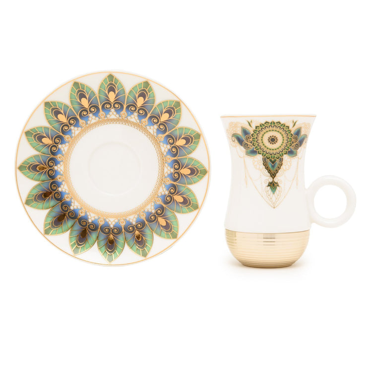 Am Rhianon Gold with Decorated Flask Tea Set - 22 Pieces - AM9415-S21/036