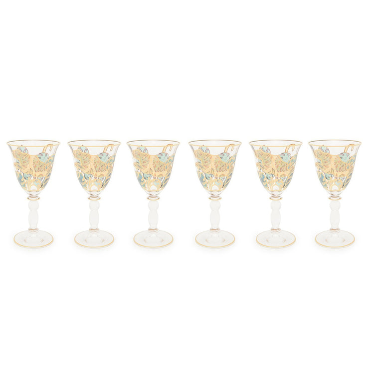 Combi Latisha Goblet Set - Green and Gold, 190 ml, Small, 6 Piece - G748Z/97