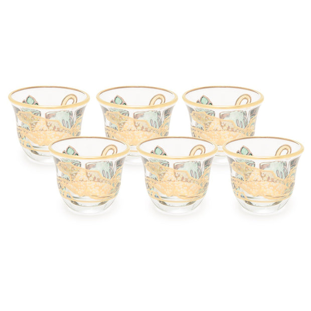 Combi Lesley Mocca Cup Set - Green and Gold - G748Z/48