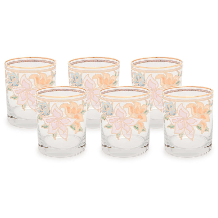 Combi Givy Tumbler Set - Gold, 260 ml, Short, 6 Piece - G611Z/27/1