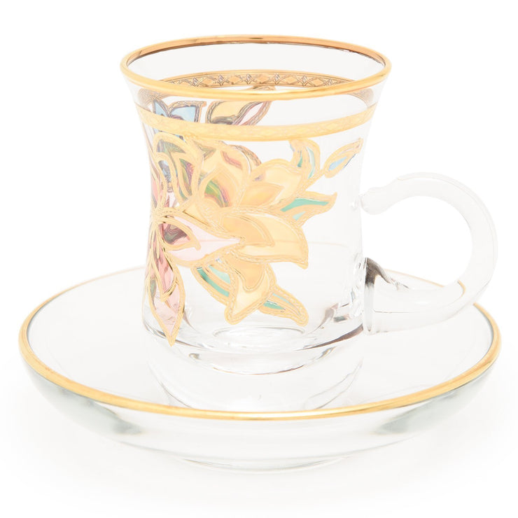 Combi Givy Tea Cup and Saucer Set - Gold - G611Z/35