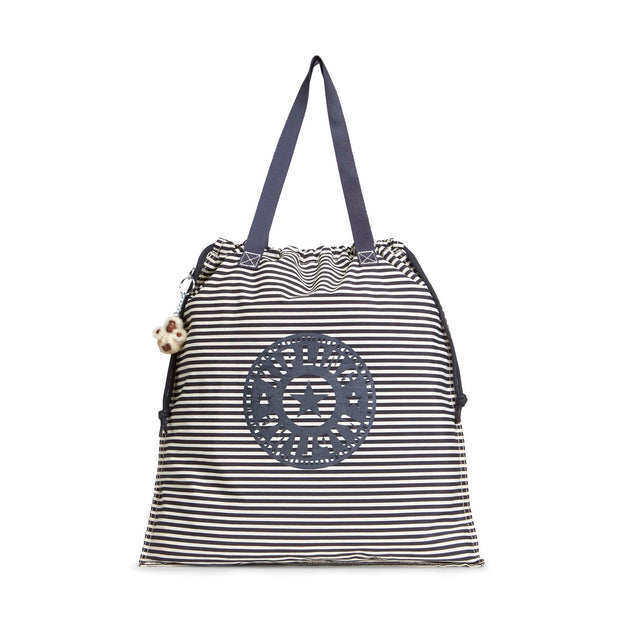 Kipling New Hiphurray L Fold Foldable Tote - Marine Stripy - 00095-27W
