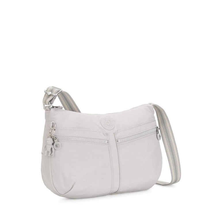 Kipling-Izellah-Medium crossbody-Curiosity Grey-02144-19O