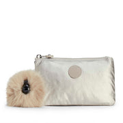 Kipling Creativity L Purse - Silver Beige - 13093-02R