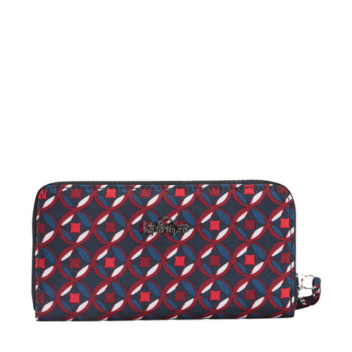 Kipling Alia Wallet - Red Tile Print - 19986-13C
