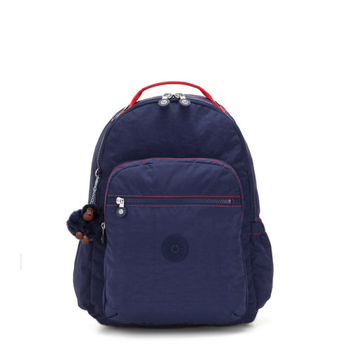 Kipling Seoul Go Backpack With Laptop Protection - Polish Blue C - 21316-58P