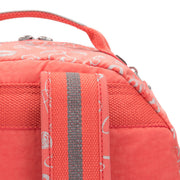 Kipling-Seoul Go-Large backpack (with laptop protection)-Hearty Pink Met-21316-83S