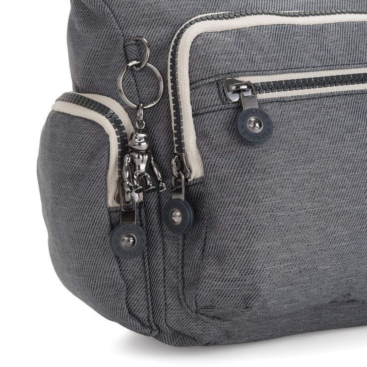 Kipling-Gabbie S-Small Crossbody Bag with Phone Compartment-Charcoal-I2899-29V