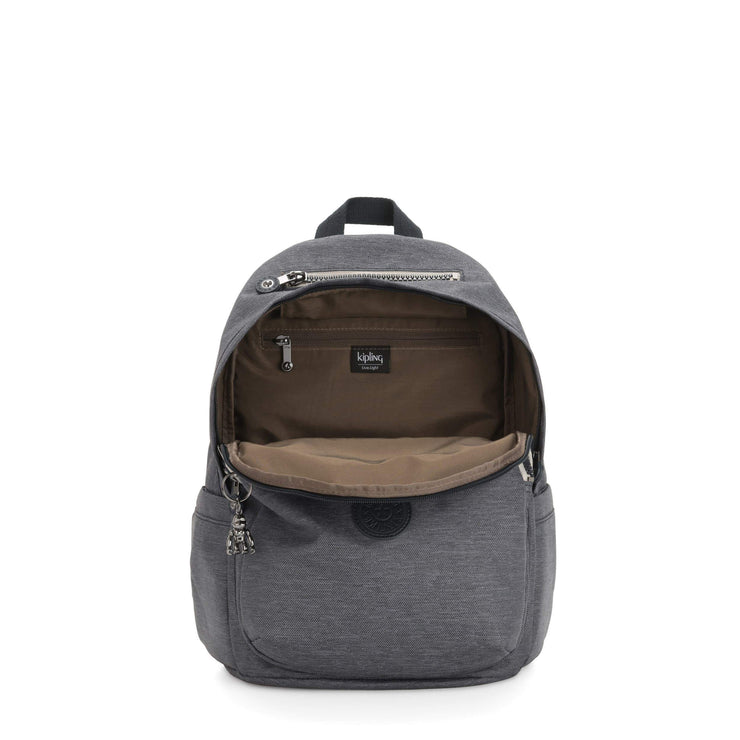 Kipling-Delia-Medium backpack-Charcoal-I3073-29V