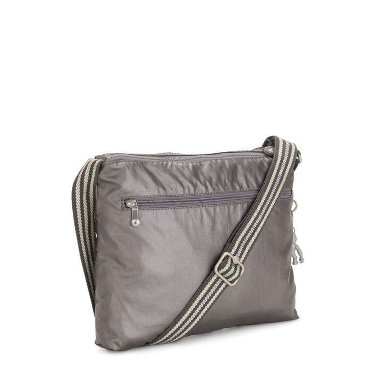 Kipling-Alvar-Medium crossbody-Carbon Metallic-I3754-29U