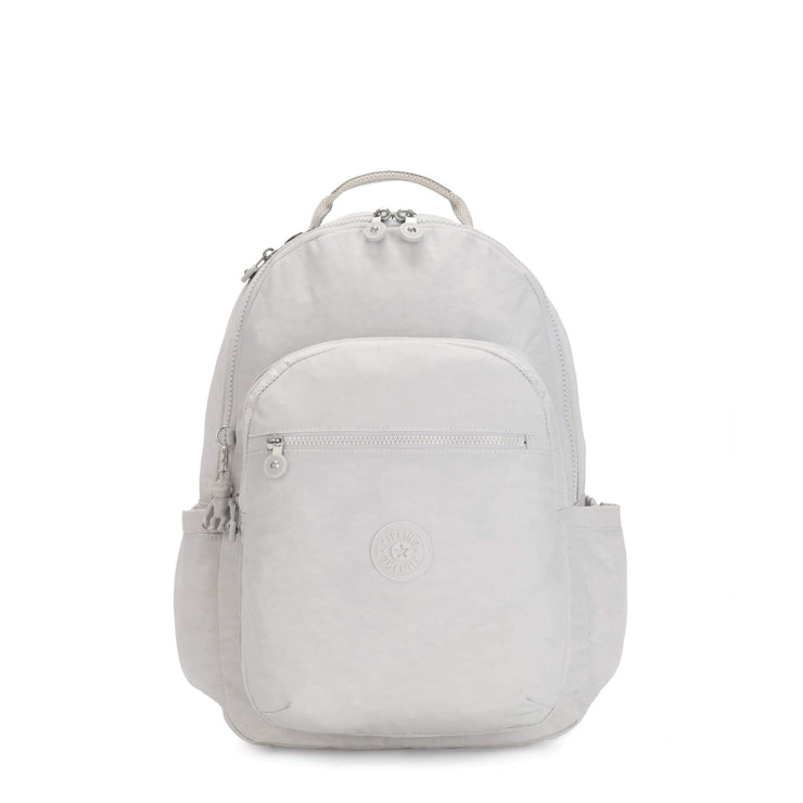 Kipling-Seoul-Large backpack (with laptop protection)-Curiosity Grey-I5210-19O