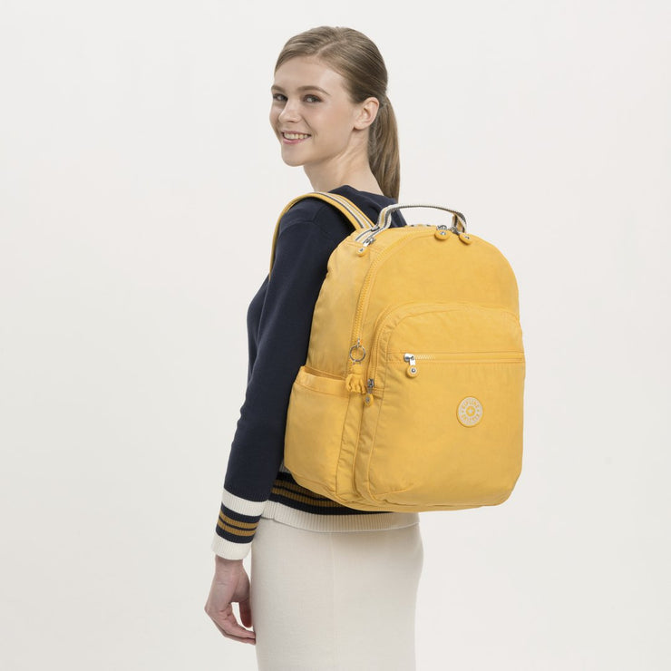 Kipling-Seoul-Large backpack (with laptop protection)-Vivid Yellow-I5210-49P