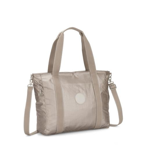 Kipling-Asseni-Large Tote (with removable shoulderstrap)-Metallic Glow-I5651-48I