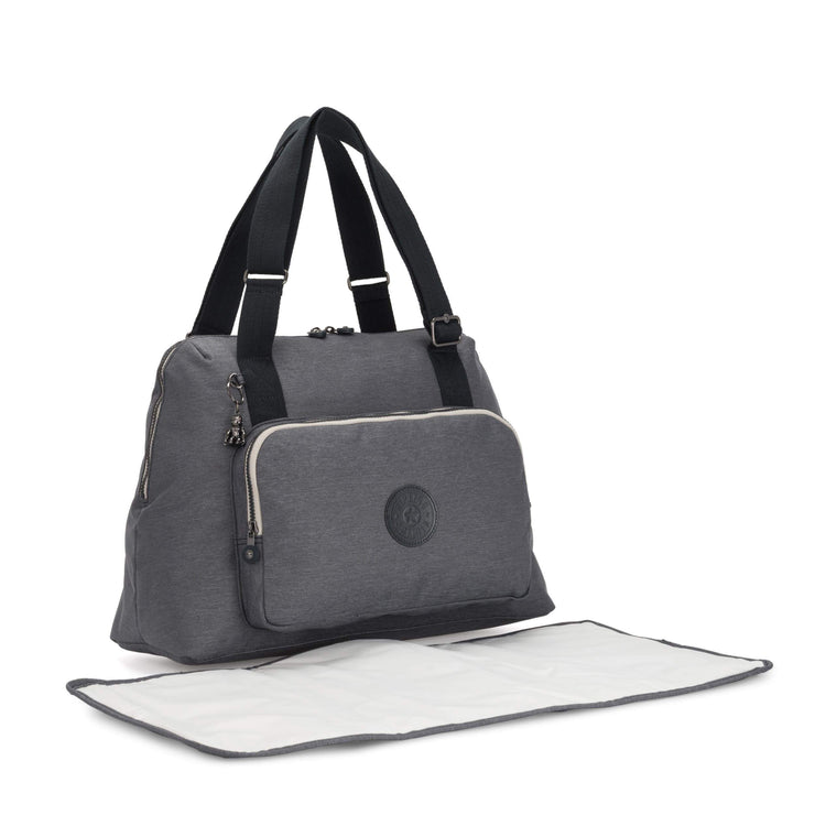 Kipling-Lenexa-Baby bag (with changing matt)-Charcoal-I6499-29V