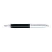 A. T. Cross Calais Chrome and Black Lacquer Ballpoint Pen - AT0112-2 - Jashanmal Home