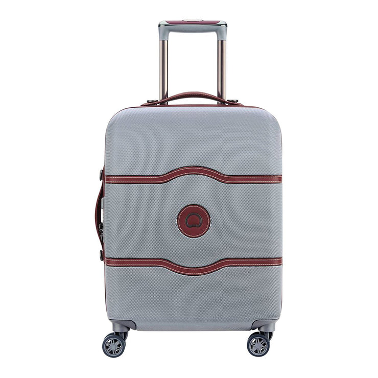 Delsey Chatelet Air 4 Double Wheel Cabin Trolley Case - Silver - 00167280511 SILVER - Jashanmal Home