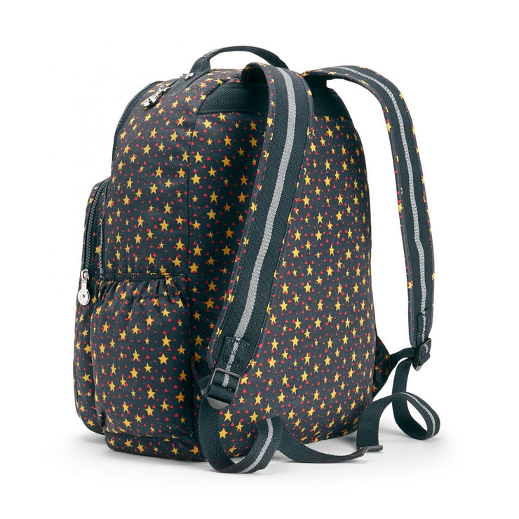 Kipling-Seoul Go-Large backpack (with laptop protection)-Fun Star Boy-02005-83B