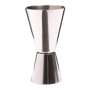 Kitchen Craft Barcraft Cocktail Jigger Dual Spirit Measure Cup - Silver - KCBCJIG