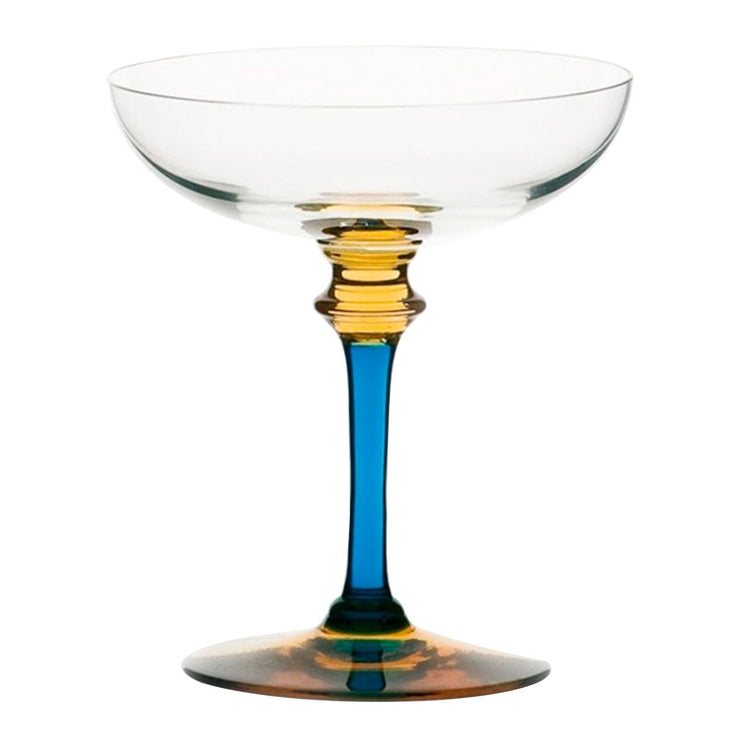 La Rochere Saphir Champagne Glass - Clear and Blue - 173801