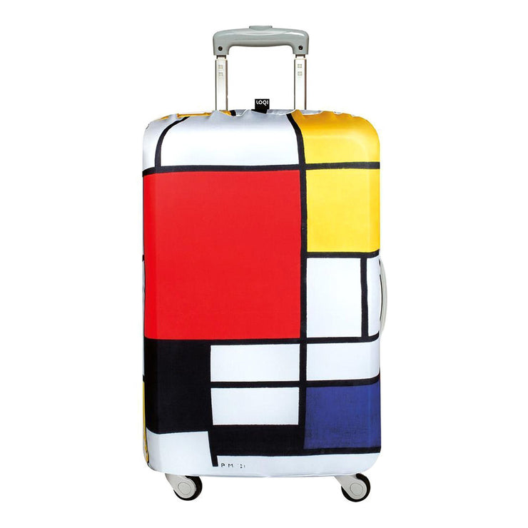 Loqi Museum Piet Mondrian Composition Luggage Cover - LM.PM.CO