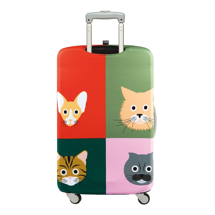 Loqi Artist Stephen Cheetham Cats Luggage Cover - LM.SC.CA