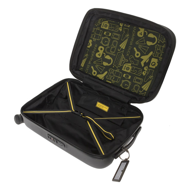 Mandarina Duck Logoduck Expandable Cabin Trolley Bag - Black - P10SZV34651 - Jashanmal Home