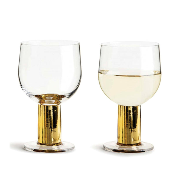 Sagaform Glass Set of 2 - Clear and Gold, 220 ml - SA5009120 - Jashanmal Home