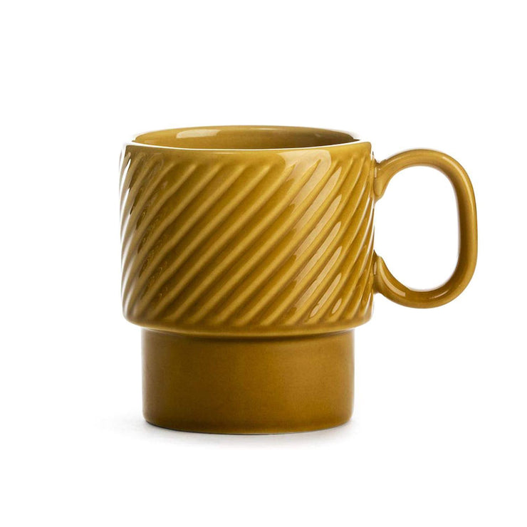 Sagaform Coffee & More Coffee Mug Set of 2 - Yellow, 250 ml - SA5017876 - Jashanmal Home