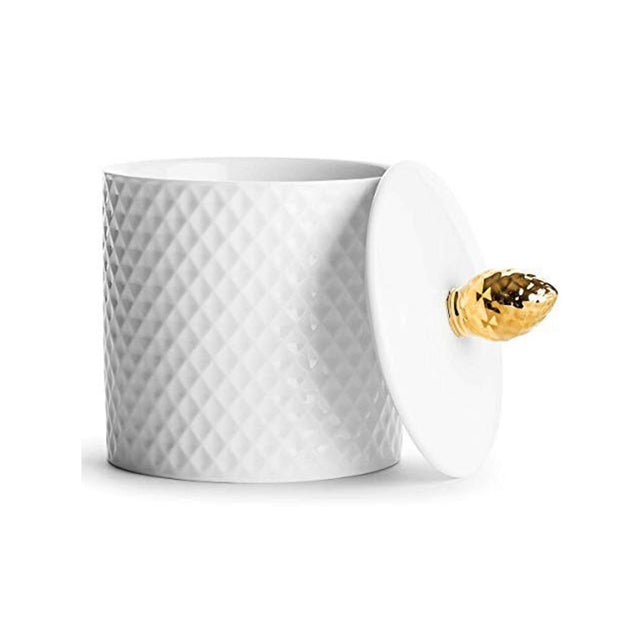 Sagaform Cone Jar - White and Gold, 450 ml - SA5017872 - Jashanmal Home