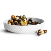 Sagaform Cone Serving Plate - White and Gold, 450 ml - SA5017873 - Jashanmal Home