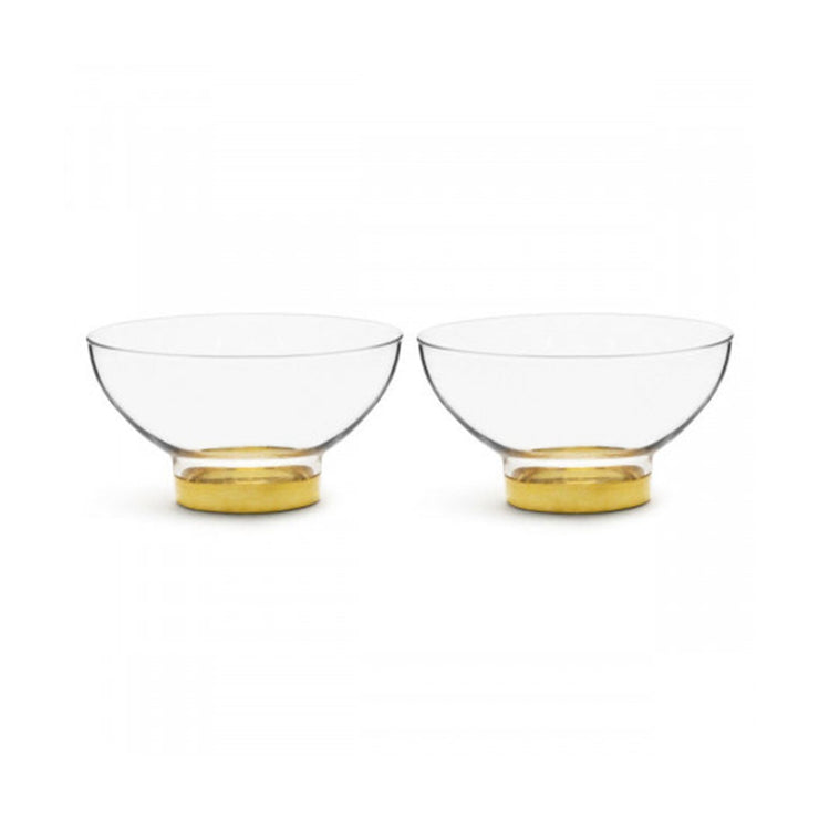 Sagaform Serving Bowl - Clear and Gold, Set of 2 - SA5017860 - Jashanmal Home