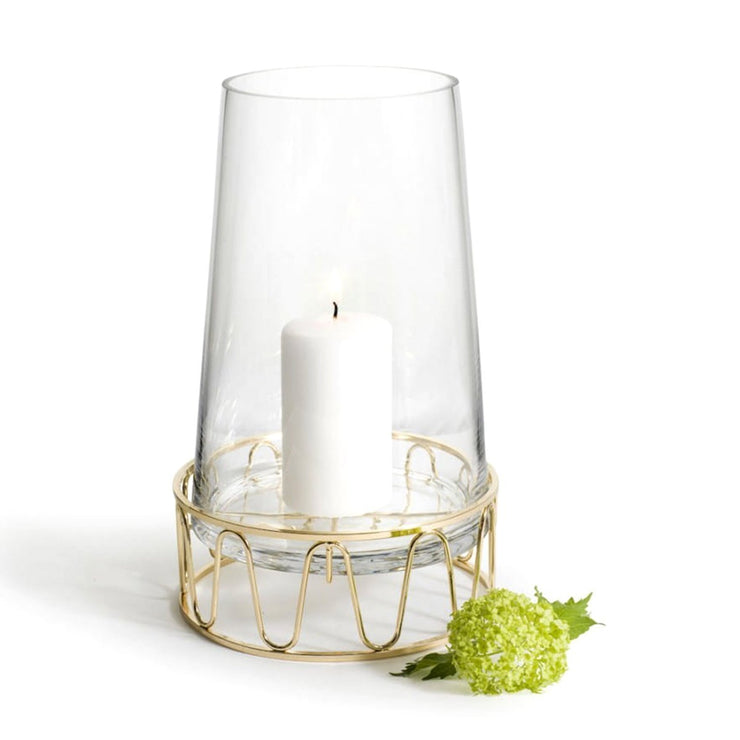 Sagaform Lantern Holder - Clear and Gold - SA5017760