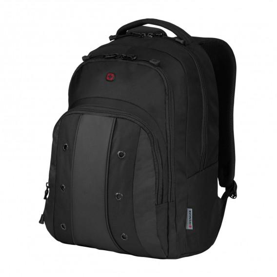 WENGER UPLOAD ESSENTIAL 16 LAPTOP BACKPACK BLACK/GREY 604431