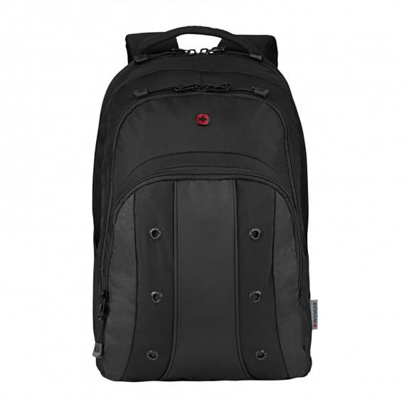 WENGER UPLOAD ESSENTIAL 16 LAPTOP BACKPACK BLACK/GREY