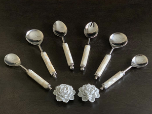 PEARL SERVING SPOON SET