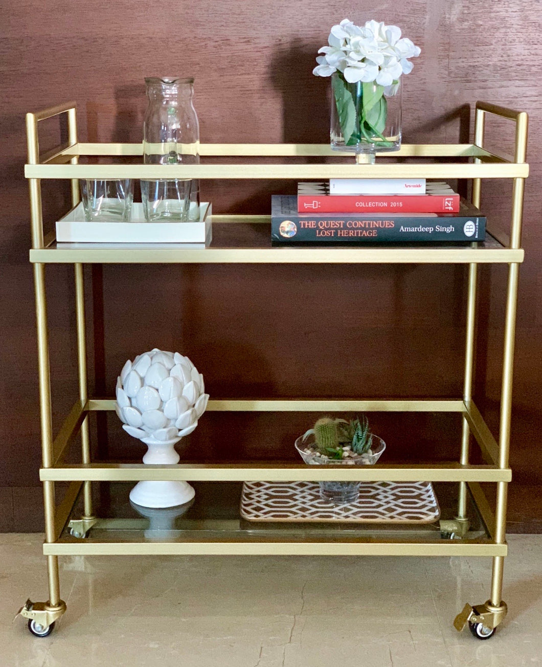 MYKONOS BAR CART