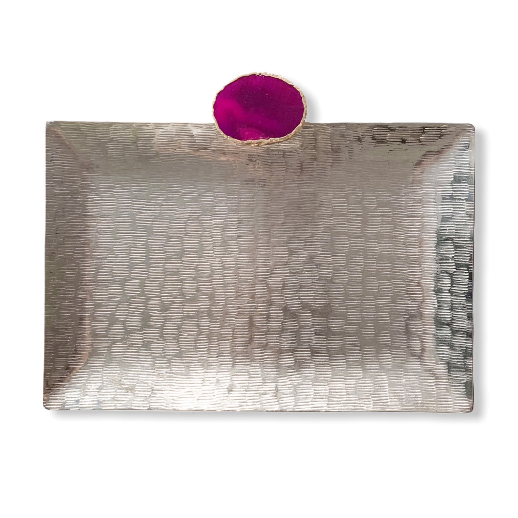 THEA AGATE RECTANGLE PLATTER - S