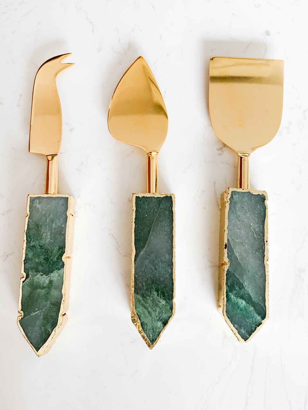 THEA AGATE CHEESE KNIFE SET